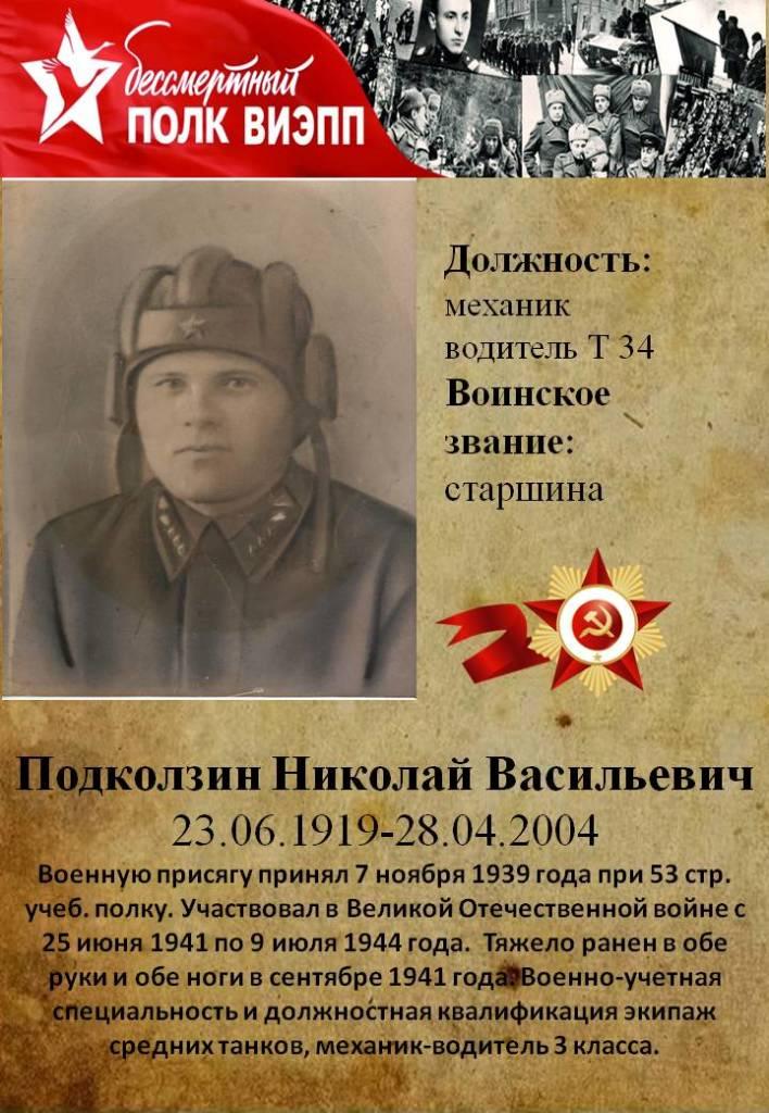 Подколзин Николай Васильевич