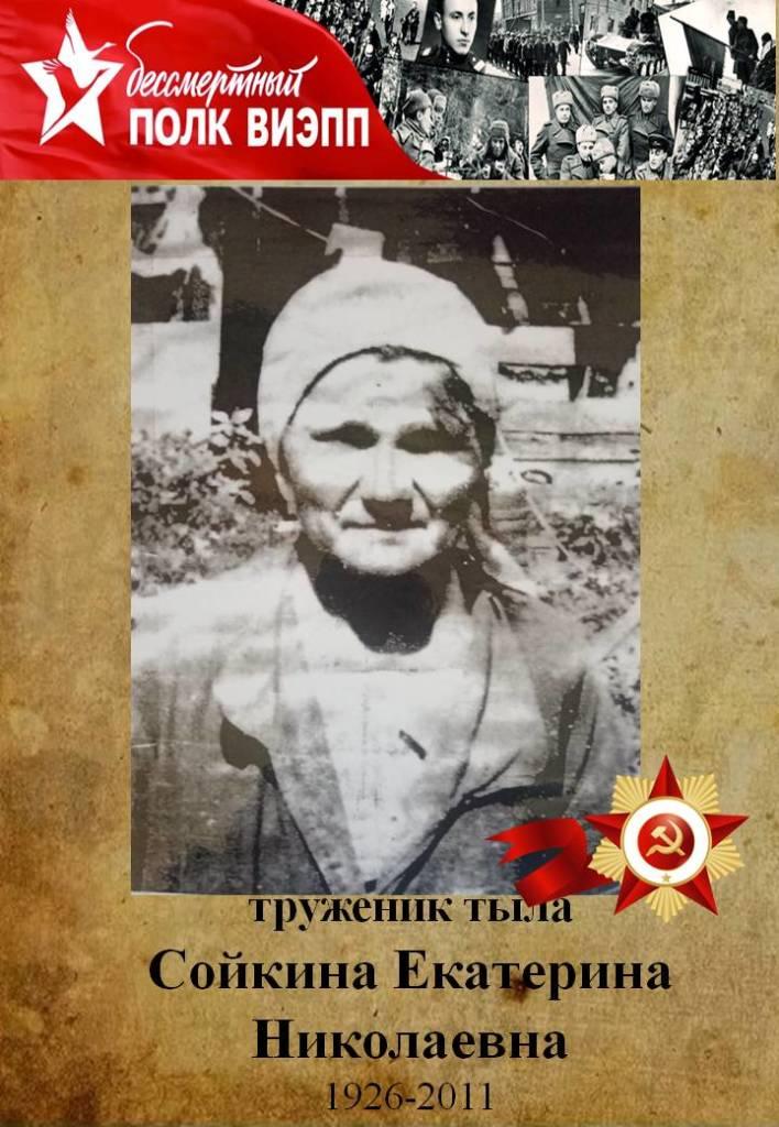 Сойкина Екатерина Николаевна