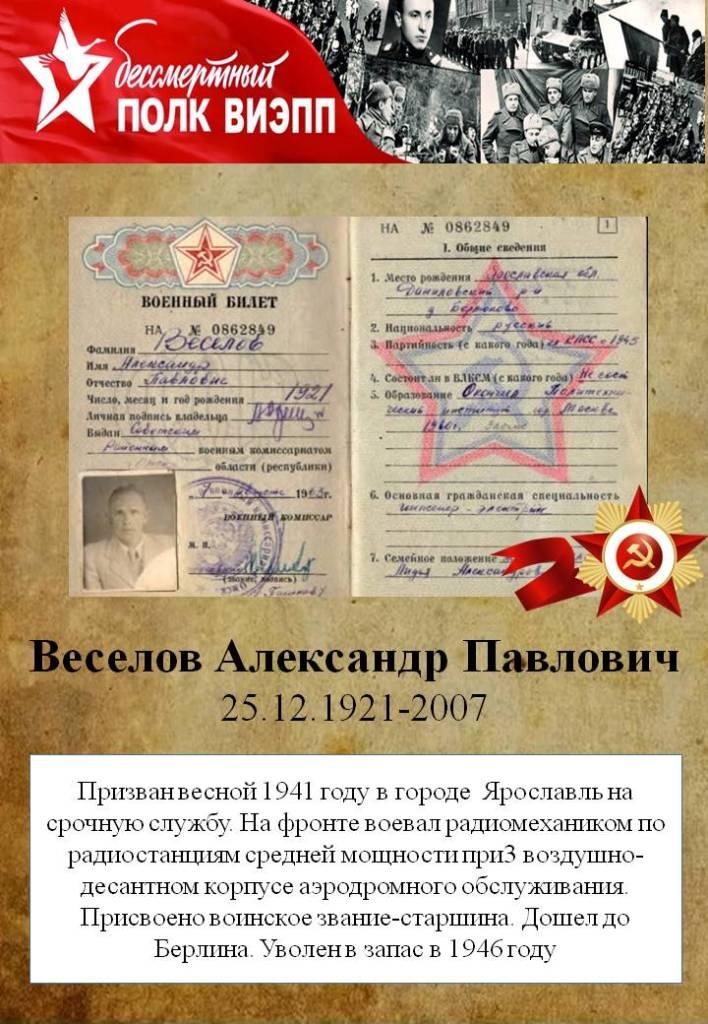Веселов Александр Павлович
