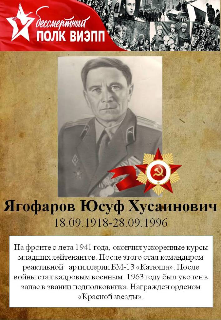 Ягофаров Юсуф Хусаинович